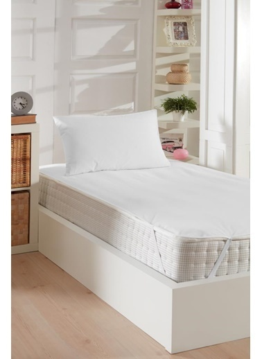 Decovilla  180x200 Pamuklu Köşe Lastik Sıvı Geçirmez Yatak Koruyucu Alez Beyaz